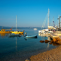 Croatia 2019;<br /> Morning harbour boats scene;<br />Bol, Brac;<br /> August 18th - 30th August 2019.<br /> <br /> @ Pete Jones<br /> pete@pjproductions.co.uk