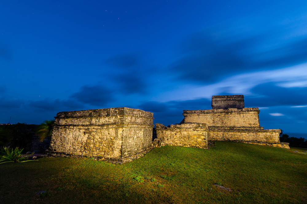 Tulum archaeological site,, which is the site of a Pre-Columbian Maya walled city serving as a major port for Cobá on the Caribbean Sea, Riviera Maya, Mexico.Riviera Maya, Mexico