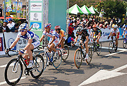 Tour de Taiwan 2008, Stage 1 criterium held at the Love River, Kaohsiung. An event of the UCI Asia tour, stage one was won by Wong Kam Po of the Hong Kong Pro Cycling Team.