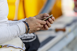 May 6, 2018 - Lexington, Ohio, United States of America - WeatherTech Prototype driver, Joao Barbosa, relaxes before the start of the Acura Sports Car Challenge at Mid Ohio Sports Car Course in Lexington, Ohio. (Credit Image: © Walter G Arce Sr Asp Inc/ASP via ZUMA Wire)