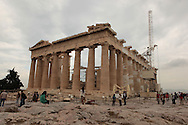 The Parthenon on the Acroplis in Athens, Greece.  Photograph by Dennis Brack