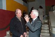 DAVID TREMLETT;  JEAN BROLLY;, John Martin: Apocalypse. Tate Britain. Millbank. London. 19 September 2011.<br /> <br />  , -DO NOT ARCHIVE-© Copyright Photograph by Dafydd Jones. 248 Clapham Rd. London SW9 0PZ. Tel 0207 820 0771. www.dafjones.com.