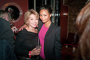BETTE MIDLER; THANDIE NEWTON, Party after the opening of  A Memory, A Monologue, A Rant, and A Prayer  at Century Club.  Restless Buddha's fundraising event helping women around the world. All proceeds raised from the sale of tickets go to Women for Women International, V-Day and Domestic Violence Intervention Project. 26 March 2012