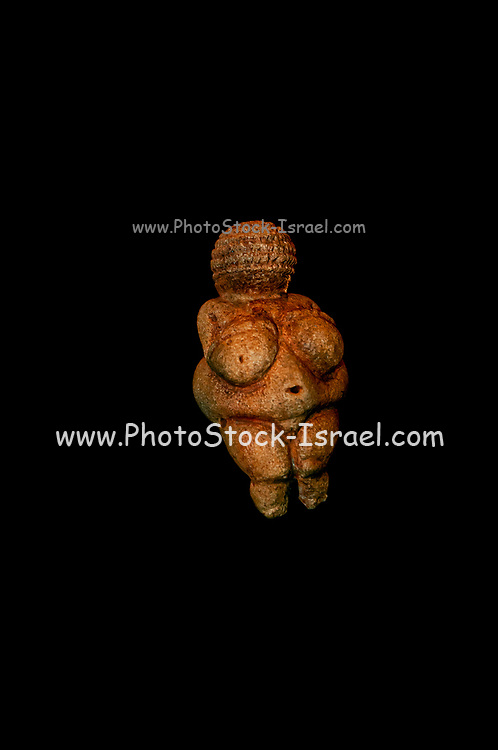 The Venus of Willendorf is an 11.1-centimetre-tall (4.4 in) Venus figurine estimated to have been made 30,000 BCE. It was found on August 7, 1908 during excavations at a paleolithic site near Willendorf, a village in Lower Austria near the town of Krems It is carved from an oolitic limestone that is not local to the area, and tinted with red ochre. The figurine is now in the Naturhistorisches Museum in Vienna, Austria.