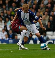 Photo: Steve Bond.<br />Birmingham City v West Ham United. The FA Barclays Premiership. 18/08/2007. Mikael Forssell attacks