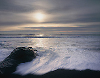 Surf at sunset, Olympic National Park Washington