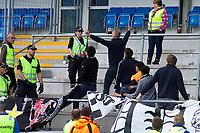 Fotball, <br /> 27.06.2012 ,<br /> nm for men,<br /> NM cup,<br /> Molde v Rosenborg bk 4-3,<br /> aker  stadion ,<br /> rosenborg supportere viste sin frustrasjon over tapet mot politiet, etter litt knuffing roet de seg ned <br /> Foto: Richard brevik , Digitalsport