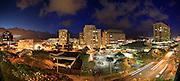 Twilight, Ala Moana, Honolulu, Oahu, Hawaii