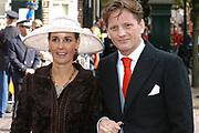 Zijne Hoogheid Prins Floris van Oranje Nassau, van Vollenhoven en mevrouw mr. A.L.A.M. Söhngen zijn zaterdag 22 oktober in de kerk van Naarden in het  huwelijk getreden. De prins is de jongste zoon van Prinses Magriet en Pieter van Vollenhoven.<br /> <br /> Church Wedding Prince Floris and Aimée Söhngen. <br /> <br /> Church Wedding Prince Floris and Aimée Söhngen in Naarden. The Prince is the youngest son of Princess Margriet, Queen Beatrix's sister, and Pieter van Vollenhoven. <br /> <br /> Op de foto / On the photo;<br /> <br /> <br /> <br /> Zijne Hoogheid Prins Pieter-Christiaan van Orjanje-Nassau, van Vollenhoven en Hare Hoogheid Prinses Anita van Oranje-Nassau, van Vollenhoven<br /> <br /> His highness prince Pieter-Christiaan van Orjanje-Nassau, of Vollenhoven and her highness princess Anita van Oranje-Nassau, of Vollenhoven