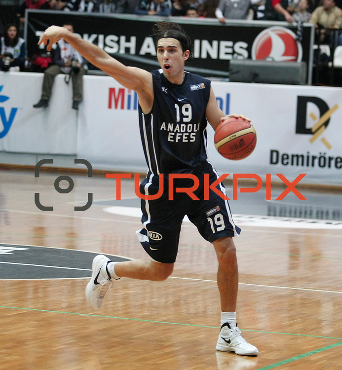 Anadolu Efes's Sasha Vujacıc during their Turkish Basketball league derby match Besiktas between Anadolu Efes at the BJK Akatlar Arena in Istanbul Turkey on Saturday 31 December 2011. Photo by TURKPIX