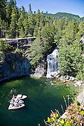 Waterfall, Teakearne Arm, Desolation Sound, British Columbia, Canada
