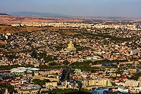cityscape skyline of downtown  Tbilisi Georgia capital city eastern Europe