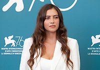 Nour Hajri at the photocall for the film The Scarecrows (Les Épouvantails) at the 76th Venice Film Festival, on Thursday 29th August 2019, Venice Lido, Italy.