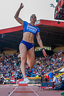 CORRECTION Ivana Spanovic, Serbia, Women's Long Jump, during the Muller Grand Prix at the Alexander Stadium, Birmingham, United Kingdom on 18 August 2019.