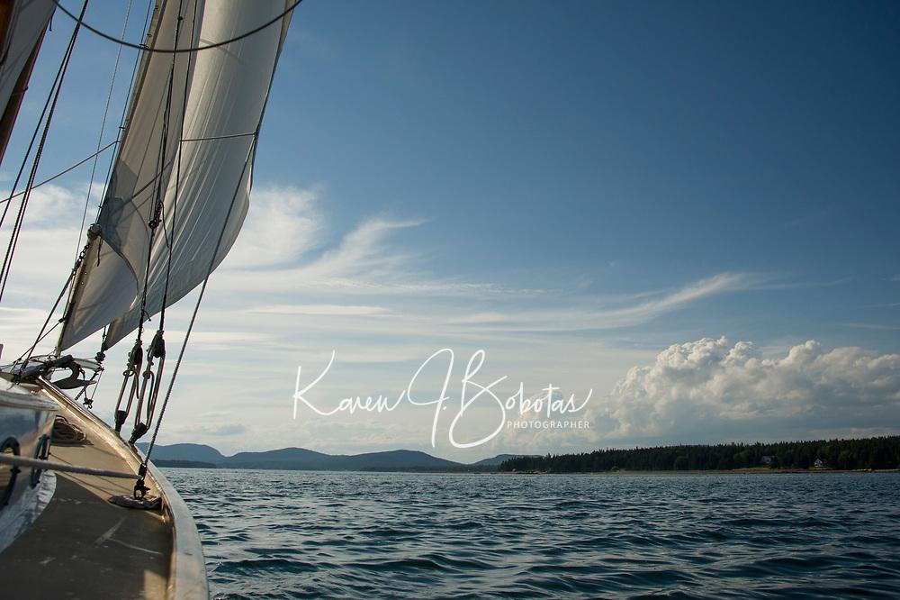 Sailing Bar Harbor, Maine.  ©2016 Karen Bobotas Photographer