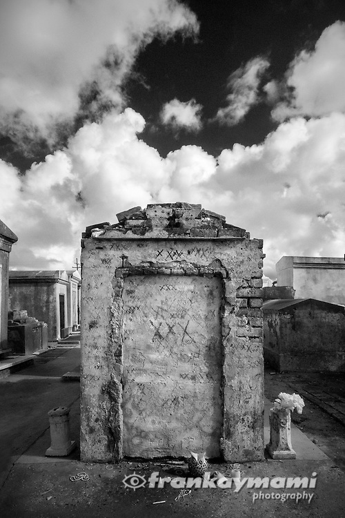 Infrared images of St. Louis #1 Cemetery in New Orleans, LA