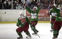 Ishockey<br /> GET-Ligaen<br /> 14.02.08<br /> Askerhallen<br /> Frisk Asker Tigers - Vålerenga VIF<br /> Cameron Abbott jubler for sin 7-4 scoring<br /> Foto - Kasper Wikestad