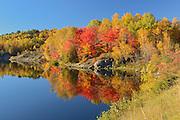 Autumn colors on Simon Lake (Simon Lake Conservation Area)<br /> NAughton<br /> Ontario<br /> Canada