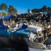 War of the Worlds Movie Plane Crash Site In Universal Studios Theme Park, Los Angeles, California, USA