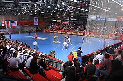 Area Slovan Kodeljevo at handball match of 2nd Round of EHF Women`s Championsleague between RK Krim Mercator (SLO) and Metz Handball (FRA), in Arena Kodeljevo, Ljubljana, Slovenia, on November 9, 2008. Metz  won match against RK Krim Mercator with 31:26.