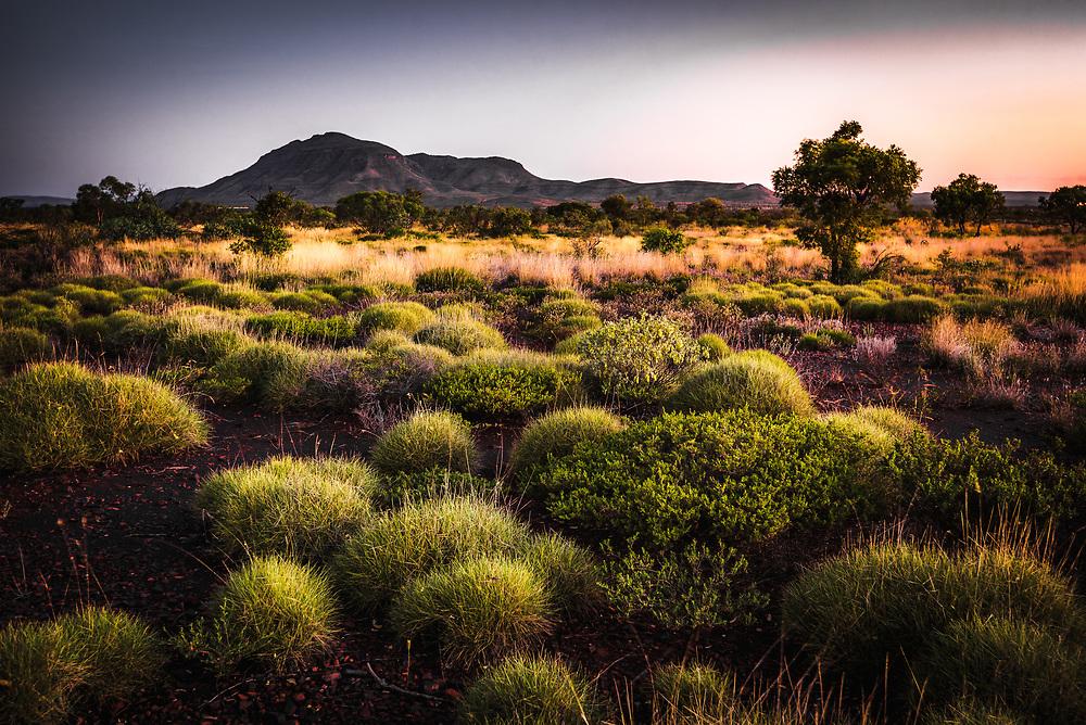 Hamersley Range of Karijini National Park in Pilbara, Western Australia