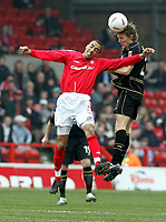 Photo: Paul Thomas. Nottingham Forest v Wigan Athletic, Forest Ground, Nottingham. Coca Cola Championship. <br /> 19/03/2005. Jimmy Bullard and James Perch.