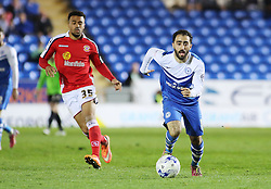 Peterborough United's Erhun Oztumer in action with Crewe Alexandra's Nicky Ajose - Photo mandatory by-line: Joe Dent/JMP - Mobile: 07966 386802 - 14/04/2015 - SPORT - Football - Peterborough - ABAX Stadium - Peterborough United v Crewe Alexandra - Sky Bet League One