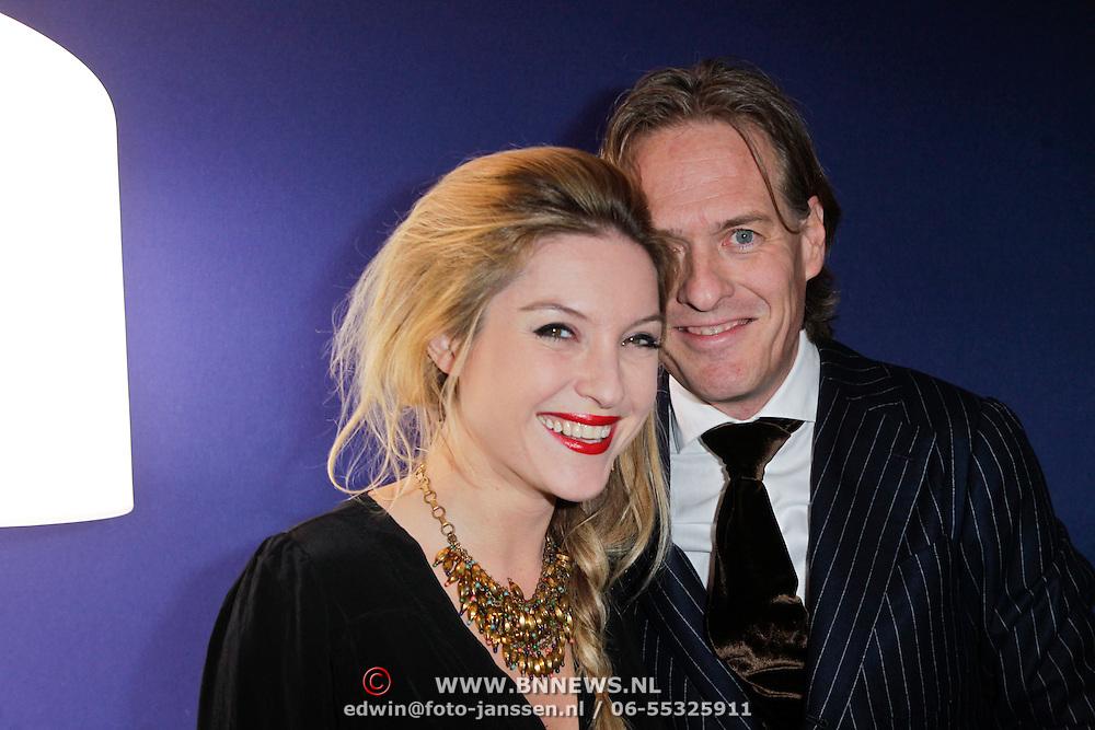 NLD/Amsterdam/20120126 - AFW Winter 2012 - inloop modeshow Spijkers en Spijkers, Lauren Verster en partner Jort Kelder