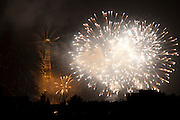 Paris, France. July 14th 2005..The 14th of July firework..