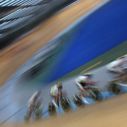 Scott Law, Jackson Law, Edward Bissaker and Peter Loft, Australia, in action during the Men's 4000 Team Pursuit at the 2012 Oceania WHK Track Cycling Championships, Invercargill, New Zealand. 21st November 2011. Photo Tim Clayton...