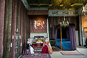 Scottish Queen's Bedchamber in Stirling Castle. The great state bed was symbolic, as Queen Mary of Guise slept in a small room nearby. Once the capital of Scotland, Stirling is visually dominated by Stirling Castle, in the United Kingdom, Europe. Historically, Stirling controlled a strategic position (until the 1890s) as the lowest bridging point of the River Forth before it broadens towards the Firth of Forth, making it the gateway to the Scottish Highlands. One of the principal royal strongholds of the Kingdom of Scotland, Stirling was created a royal burgh by King David I in 1130. Stirling Castle sits atop Castle Hill, an intrusive crag, which forms part of the Stirling Sill geological formation. Most of the stronghold's main buildings date from the 1400s and 1500s, when it peaked in importance. The outer defences fronting the town date from the early 1700s. Before the union with England, Stirling Castle was also one of the most used of the many Scottish royal residences, serving as both a palace and a fortress. Several Scottish Kings and Queens have been crowned at Stirling, including Mary, Queen of Scots in 1542, and others were born or died there. Stirling Castle has suffered at least eight sieges, including several during the Wars of Scottish Independence, with the last being in 1746, when Bonnie Prince Charlie unsuccessfully tried to take the castle.