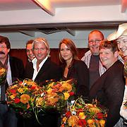 NLD/Eemnes/20081020 - Premiere Dries Roelvink film, aankomst cast, Chiel Montagne, Rikkie de Wit, Ilona Six en partner Tom Six, Dries Roelvink, René de Wit en Grad Damen