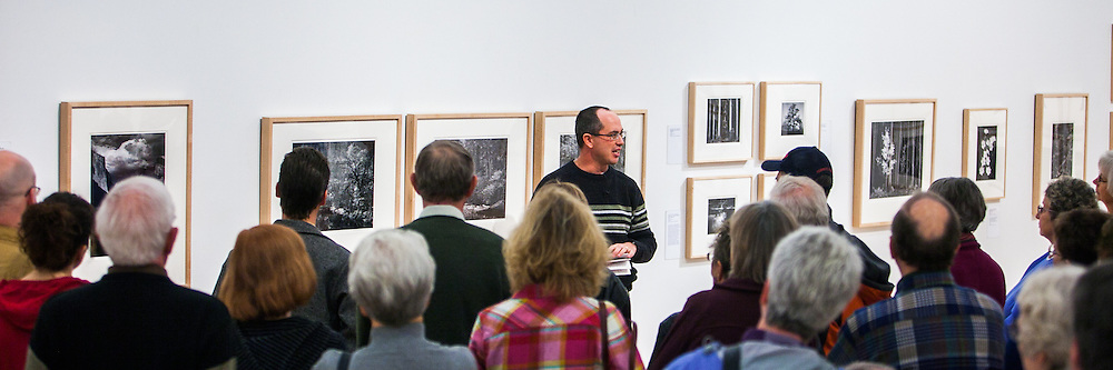 """Kenton Rowe talking about the Ansel Adams Photograph """"Tenaya Creek, Dogwood, Rain"""" during a 2013 lecture at the Holter Museum of Art in Helena, MT"""