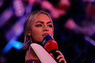 Sky Sports Presenter Laura Woods during the World Championship Darts 2018 at Alexandra Palace, London, United Kingdom on 17 December 2018.