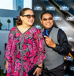 LOS ANGELES, CA - JUN 3: Mexican Actress Angelica Vale poses with a fan at the Despegando Show VIP Launch party at Don Chente's Restaurant in downtown Los Angeles. The reality show is presented by Adriana Gallardo, founder and CEO of Adriana's Insurance. The show will coach chosen participants how to be successful entrepreneurs. 2015, June 3. Byline, credit, TV usage, web usage or linkback must read SILVEXPHOTO.COM. Failure to byline correctly will incur double the agreed fee. Tel: +1 714 504 6870.