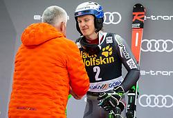 Winner in Vitranc overall classification KRISTOFFERSEN Henrik of Norway celebrates at trophy ceremony after the Audi FIS Alpine Ski World Cup Men's Slalom 58th Vitranc Cup 2019 on March 10, 2019 in Podkoren, Kranjska Gora, Slovenia. Photo by Matic Ritonja / Sportida