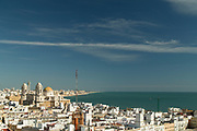 View of Cadiz and sea, Andalusia, Spain
