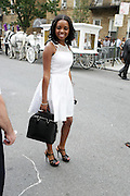 July 24, 2012-New York, NY: Tamika Mallory, National Director, National   Action Network attends the official Slyvia Woods Harlem Community memorial and send off through the streets of Harlem. Sylvia Woods was an American restaurateur who co-founded the landmark restaurant Sylvia's in Harlem on Lenox Avenue, New York City with her husband, Herbert Woods, in 1962 (Photo by Terrence Jennings)