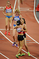LONDON OLYMPIC GAMES 2012 - OLYMPIC STADIUM , LONDON (ENG) - 10/08/2012 - PHOTO : STEPHANE KEMPINAIRE / POOL / KMSP / DPPI<br /> ATHLETICS - WOMEN'S 1500 M - FINAL - GOLD MEDAL - ASLI CAKIR ALPTEKIN (TUR) - SILVER MEDAL - GAMZE BULUT (TUR)