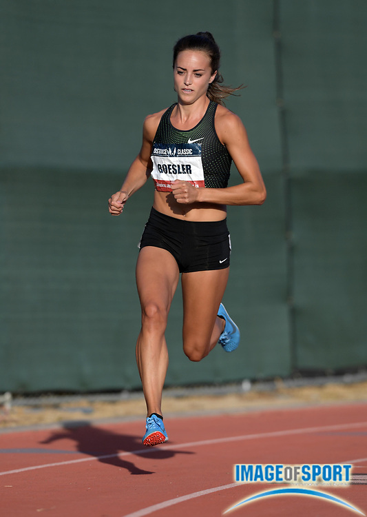 May 17, 2018; Los Angeles, CA, USA; Laura Roesler places fourth in women's 800m heat in 2:03.46 during the USATF Distance Classic at Occidental College.