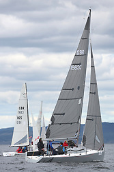 The Silvers Marine Scottish Series 2014, organised by the  Clyde Cruising Club,  celebrates it's 40th anniversary.<br /> Day 1, GBR1983C, Wildebeest IV, Craig Latimer, RWYC, Brenta 24<br /> <br /> Racing on Loch Fyne from 23rd-26th May 2014<br /> <br /> Credit : Marc Turner / PFM