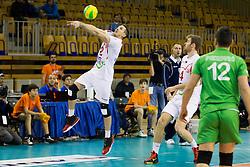 Lazar Kolaric #2 of Vojvodina NS Seme NOVI SAD during volleyball match between ACH Volley (SLO) and Vojvodina NS Seme NOVI SAD (SRB) in 5th Leg of Pool F of 2016 CEV DenizBank Volleyball Champions League, on January 21, 2016 in Arena Tivoli, Ljubljana, Slovenia. Photo by Urban Urbanc / Sportida
