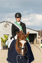Ceuleers Birgit (BEL) - Dodena<br /> SBB Competitie Jonge Paarden - Nationaal Kampioenschap - Kieldrecht 2014<br /> © Dirk Caremans