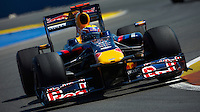 VALENCIA, SPAIN - AUGUST 23: Mark Webber of Australia and Red Bull Racing drives during the European Formula One Grand Prix at the Valencia Street Circuit on August 23, 2009, in Valencia, Spain. (Photo by Manuel Queimadelos)