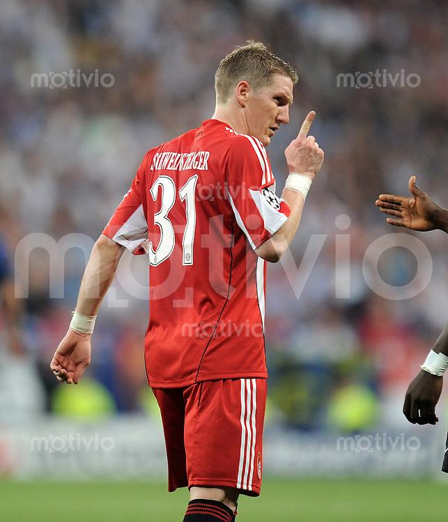 FUSSBALL      CHAMPIONS LEAGUE FINALE     SAISON  2009/2010 FC Bayern Muenchen - Inter Mailand      22.05.2010 Bastian Schweinsteiger (FCB)