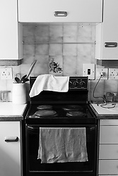 A kitchen interior with a stove  inside a suburban home in  Fish Hoek, Cape Town, Western Cape, South Africa.(Picture: JULIAN GOLDSWAIN)