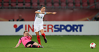Football - 2017 UEFA Women's European [Euro] Championship - Group D: England vs. Scotland<br /> <br /> Lucy Bronze of England and Erin Cuthbert of Scotland at Stadion Gagenwaard, Utrecht.<br /> <br /> COLORSPORT/LYNNE CAMERON