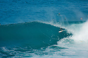Surfer in the tube at Honolua Bay, Maui, Hawaii