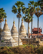 Minochantha stupa ( မင်းအိုချမ်းသာဘုရား ) built in 1112 close to the heart of Old Bagan and the huge Ananda temple with a lookout to another 54 separate structures.