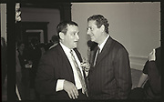 NORMAN ROSENTHAL; CHARLES SAATCHI,, Sensation Opening. Royal Academy of Art. London.16 September 1997.